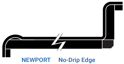 newport no drip edge